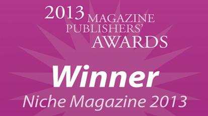 Frock Wins 'Best Niche Magazine 2013' Award